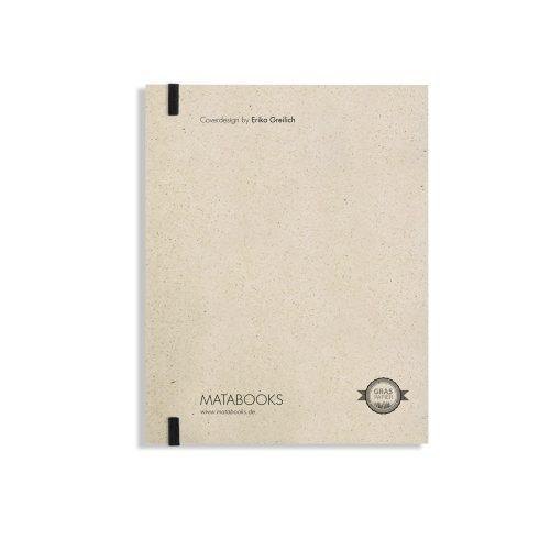 """Notizbuch Swiss Brochure """"Starr"""" aus Graspapier von Matabooks"""