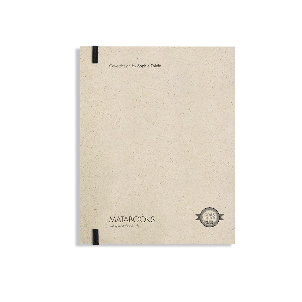 "Notizbuch Swiss Brochure ""Like thunder and lightning"" aus Graspapier von Matabooks"