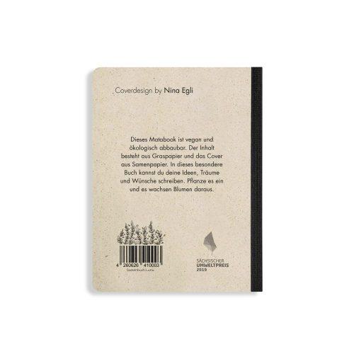 Samenbuch aus Graspapier - Luna von Matabooks