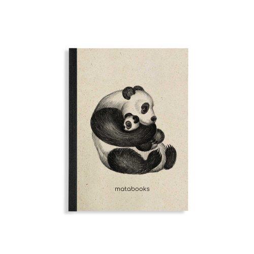 "Steifbroschur Dahara ""Panda"" aus Graspapier von Matabooks"