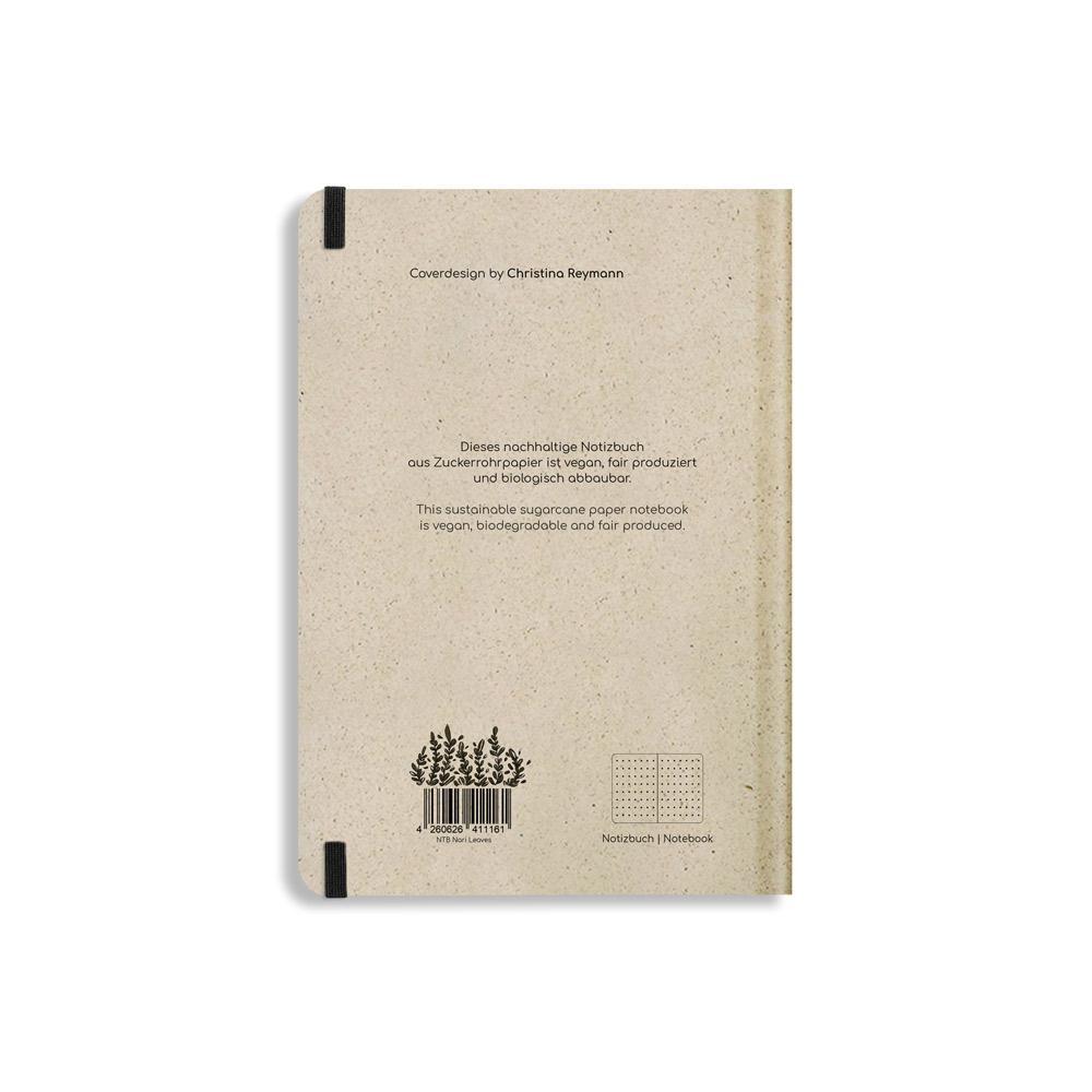Nachhaltiges Notizbuch A5 aus Graspapier Nari Leaves punktiert von Matabooks