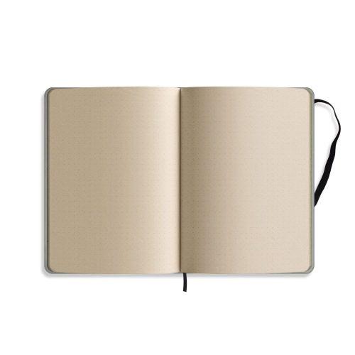 Nachhaltiges Notizbuch A5 aus Graspapier Nari Innenseite punktiert von Matabooks