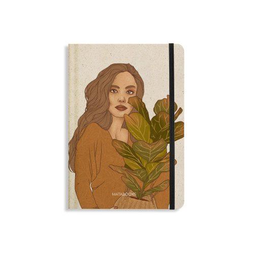 Nachhaltiges Notizbuch A5 aus Graspapier Nari Plant Friends von Matabooks