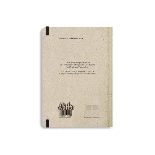 Nachhaltiges Notizbuch A5 aus Graspapier Nari Universe Sisters liniert von Matabooks
