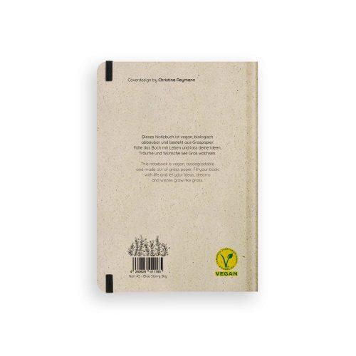 Nachhaltiges Notizbuch A5 aus Graspapier Nari Blue Starry Sky punktiert von Matabooks