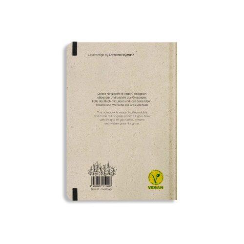 Nachhaltiges Notizbuch A5 aus Graspapier Nari Sunflower punktiert von Matabooks