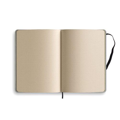 Nachhaltiges Notizbuch A5 aus Graspapier Nari Innenseiten punktiert von Matabooks
