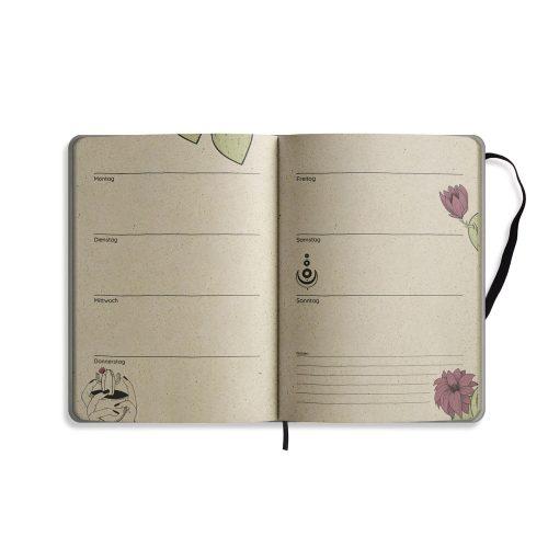 """A5 Kalender Samaya Undatiert """"Achtsamkeit"""""""
