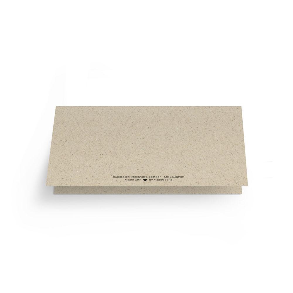 Grußkarte aus Graspapier - Matabooks