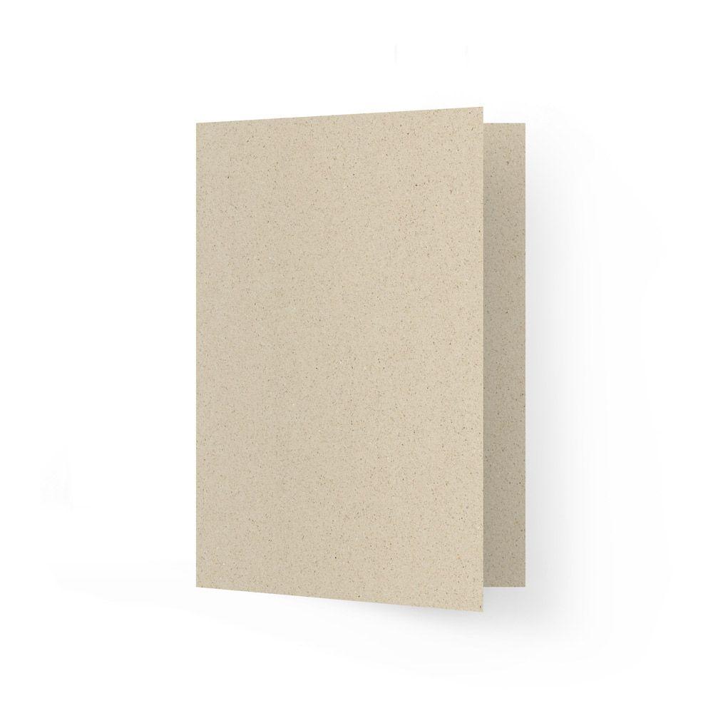 A5 Grußkarte blanko aus Graspapier
