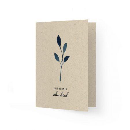 Trauerkarte aus Graspapier