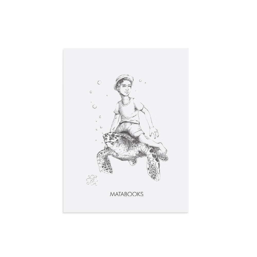 Kunstdruck aus Graspapier - Below Sealevel von Sophie Thiele