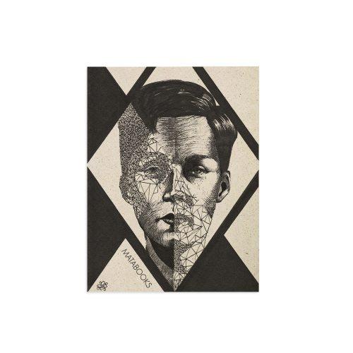Kunstdruck aus Graspapier - Split mind von Sophie Thiele