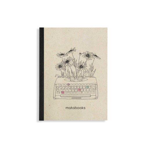 Dahara aus Graspapier Typewriter von Matabooks