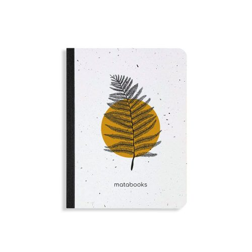 Samenbuch aus Graspapier Orange von Matabooks
