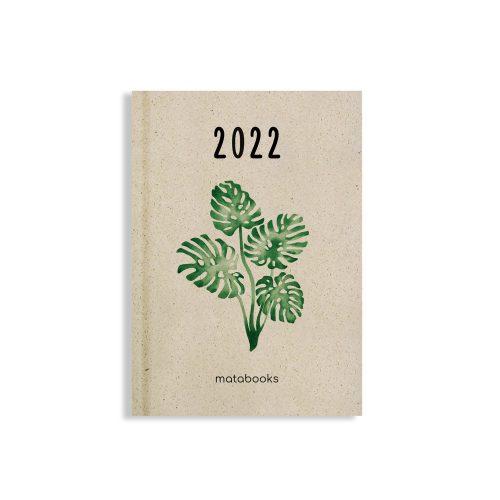 Nachhaltiger und veganer Jahresplaner 2022 Harmony aus Graspapier von Matabooks