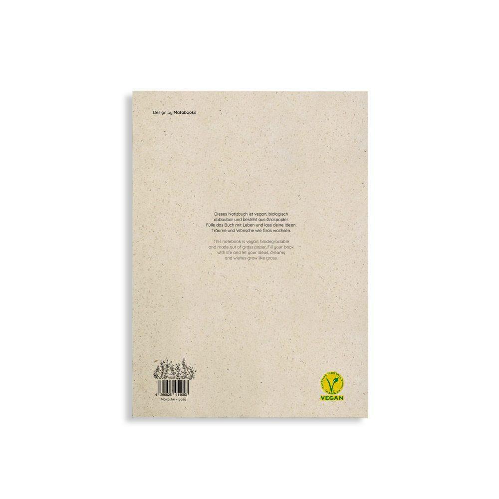 """Nachaltiges Notizbuch A4 aus Graspapier Nava """"Easy"""" von Matabooks"""