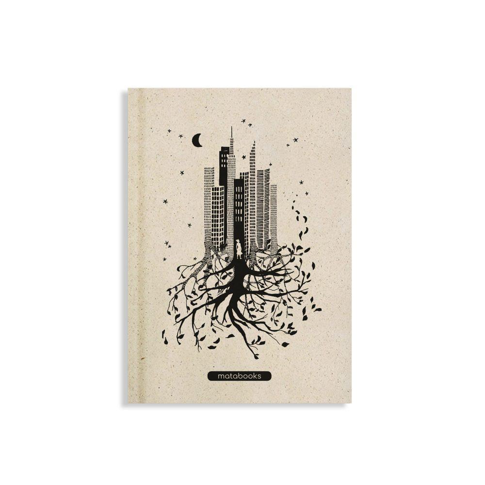 Nachhaltiges und veganes Notizbuch A5 Luna aus Graspapier von Matabooks