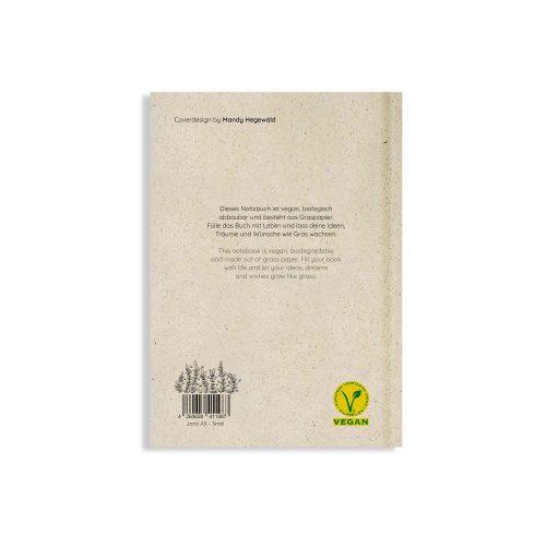 Nachhaltiges und veganes Notizbuch A5 Snail aus Graspapier von Matabooks