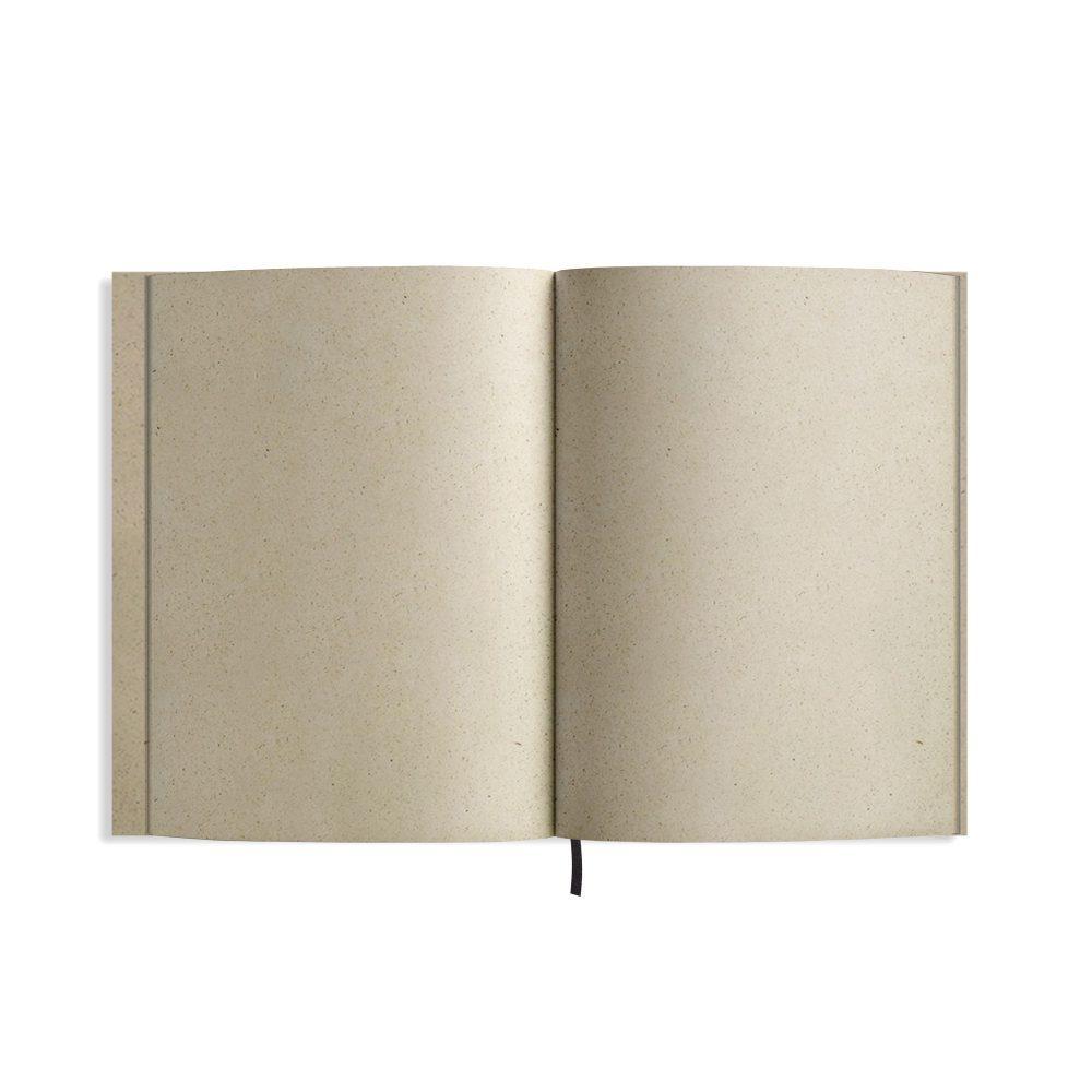 """Nachaltiges Notizbuch aus Graspapier Nava """"Easy"""" Innenseiten von Matabooks"""